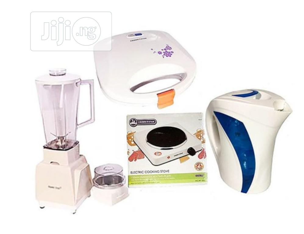 Master Chef Blender+ Electric Jug +Hot Plate + Toaster Bundle | Kitchen Appliances for sale in Lagos Island (Eko), Lagos State, Nigeria