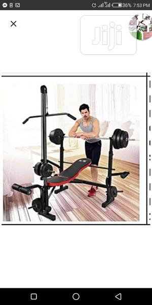 Brand New Semi Commercial Weight Bench With Pull Bar | Sports Equipment for sale in Lagos State, Surulere