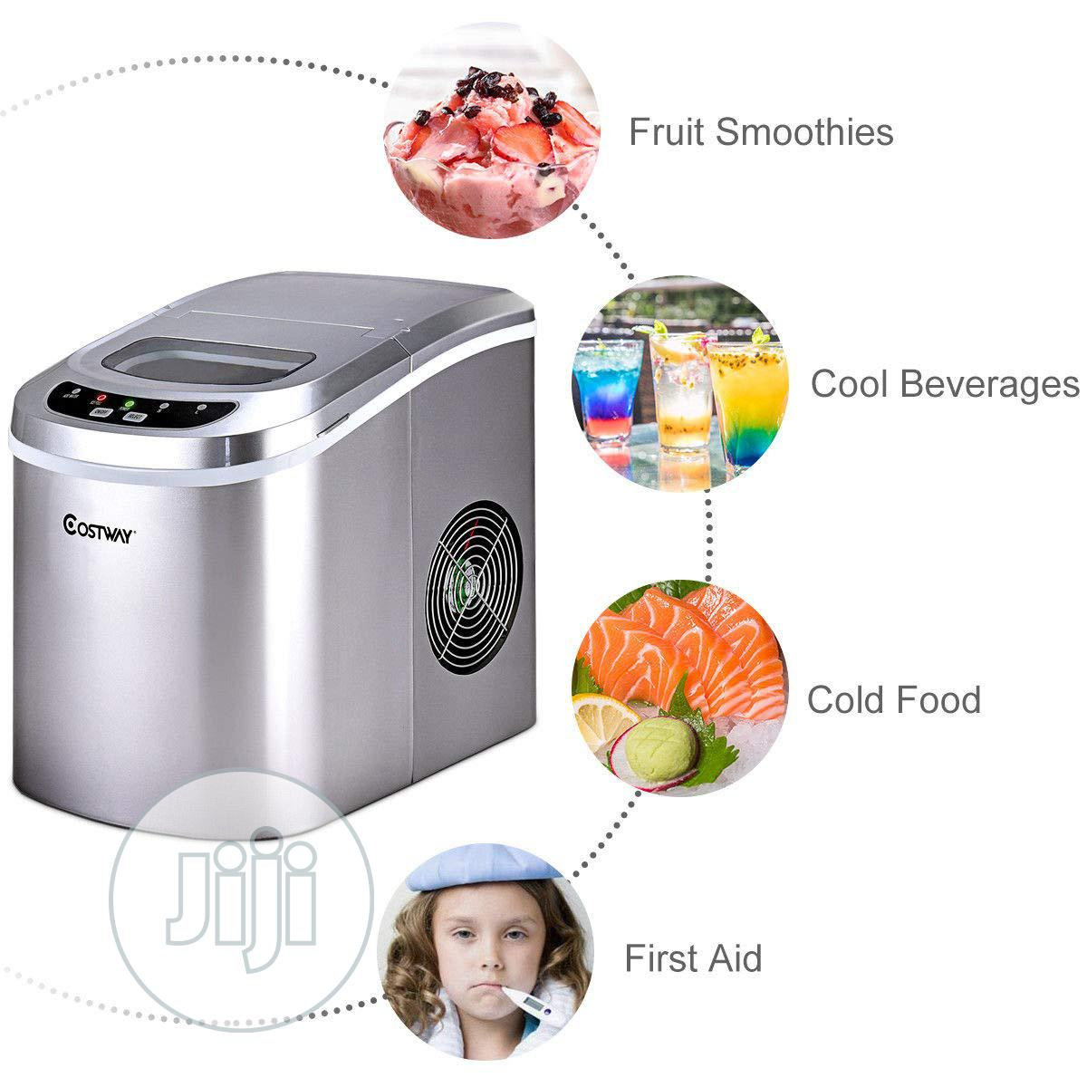 COSTWAY Ice Maker for Countertop Compact Ice Maker Machine
