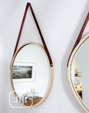 Quality Round Mirror With Leather Strap 39cm | Home Accessories for sale in Lagos State, Lagos Island