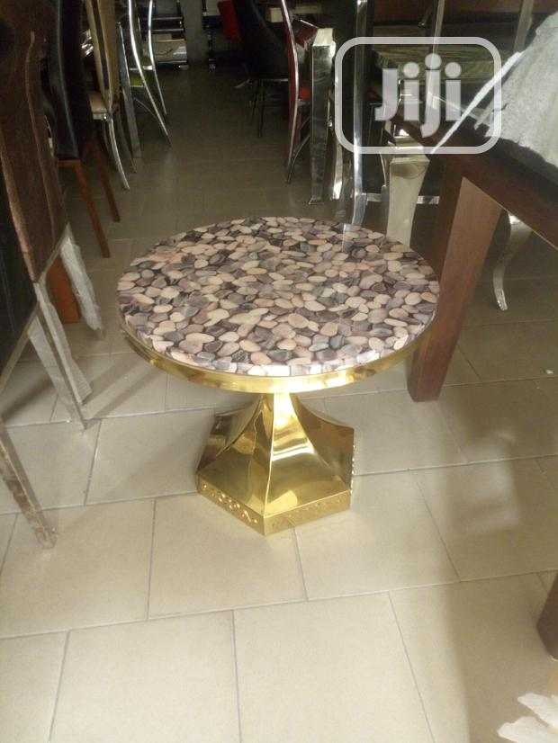 Portable Marble Side Table
