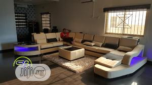 Cream U Shape Sofa With LED Lights | Furniture for sale in Lagos State, Badagry