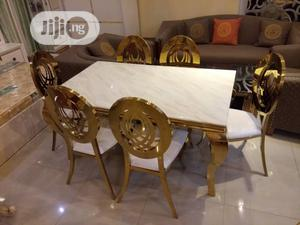 This a Pure Golden Dinning Table With Six Gold Chair | Furniture for sale in Lagos State, Oshodi