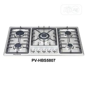 Stainless 5 Gas Burner Inbuilt Hob With Auto Ignition - 90cm   Kitchen Appliances for sale in Lagos State, Ojo