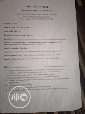Healthcare & Nursing CV | Healthcare & Nursing CVs for sale in Lagos State, Victoria Island