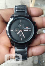 Emporio Armani Men's Black Chain Wristwatch | Watches for sale in Lagos State, Surulere