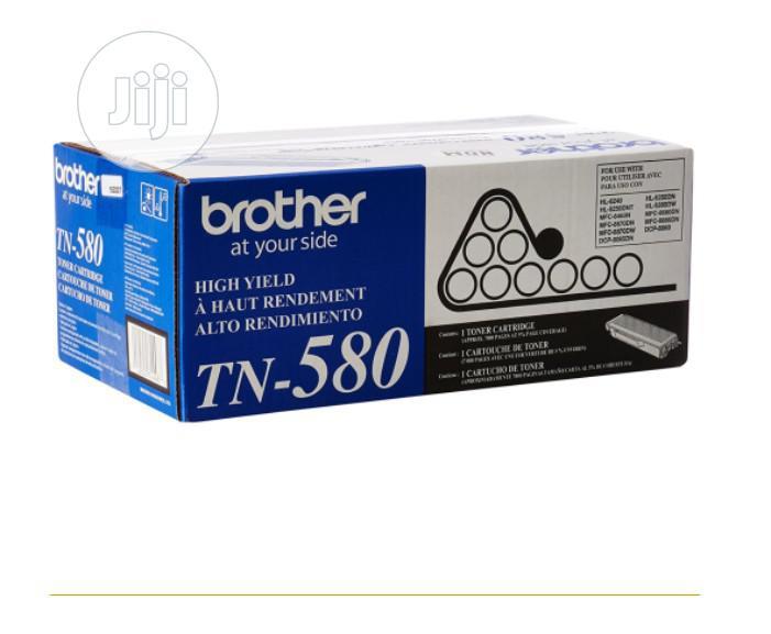 Brother TN580 High Yield Black Original Toner Cartridge | Accessories & Supplies for Electronics for sale in Lagos Island (Eko), Lagos State, Nigeria