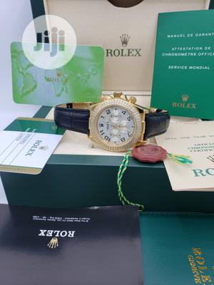 Rolex Oyster Perpetual(Daytona) Ice Head Gold Leather Strap Watch   Watches for sale in Lagos State, Lagos Island (Eko)