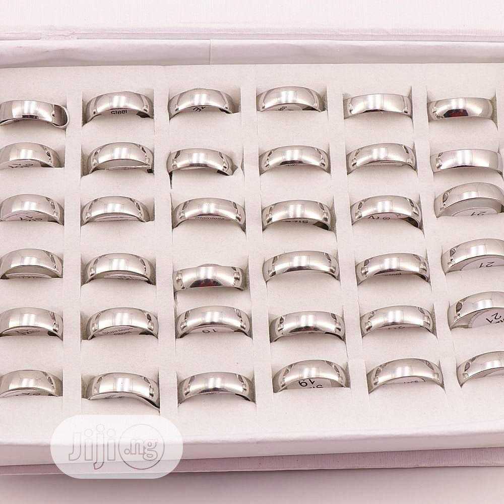 Steel Silver Wedding Band Size 5 - 14 | Jewelry for sale in Surulere, Lagos State, Nigeria