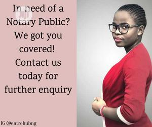 Notary Public: Notarization Of Documents By A Certified Notary Public | Legal Services for sale in Lagos State, Alimosho