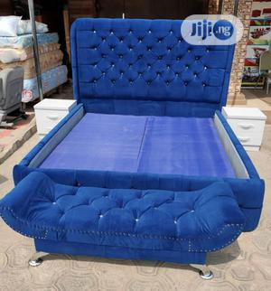 6/6 Upholstery Bed Frame With Double Drawer | Furniture for sale in Lagos State, Ojo