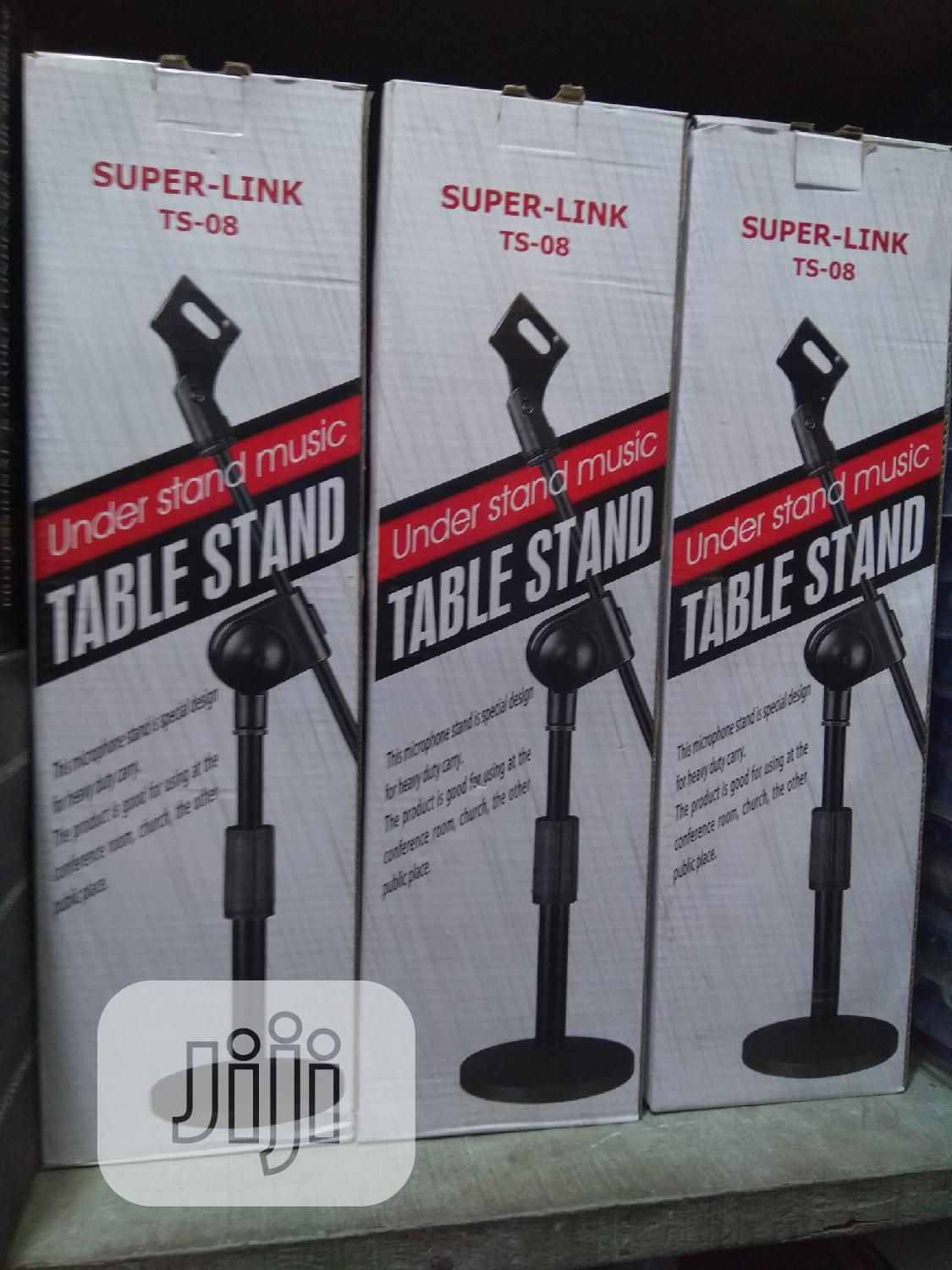 Professional Portable Round Based Table Microphone Stand