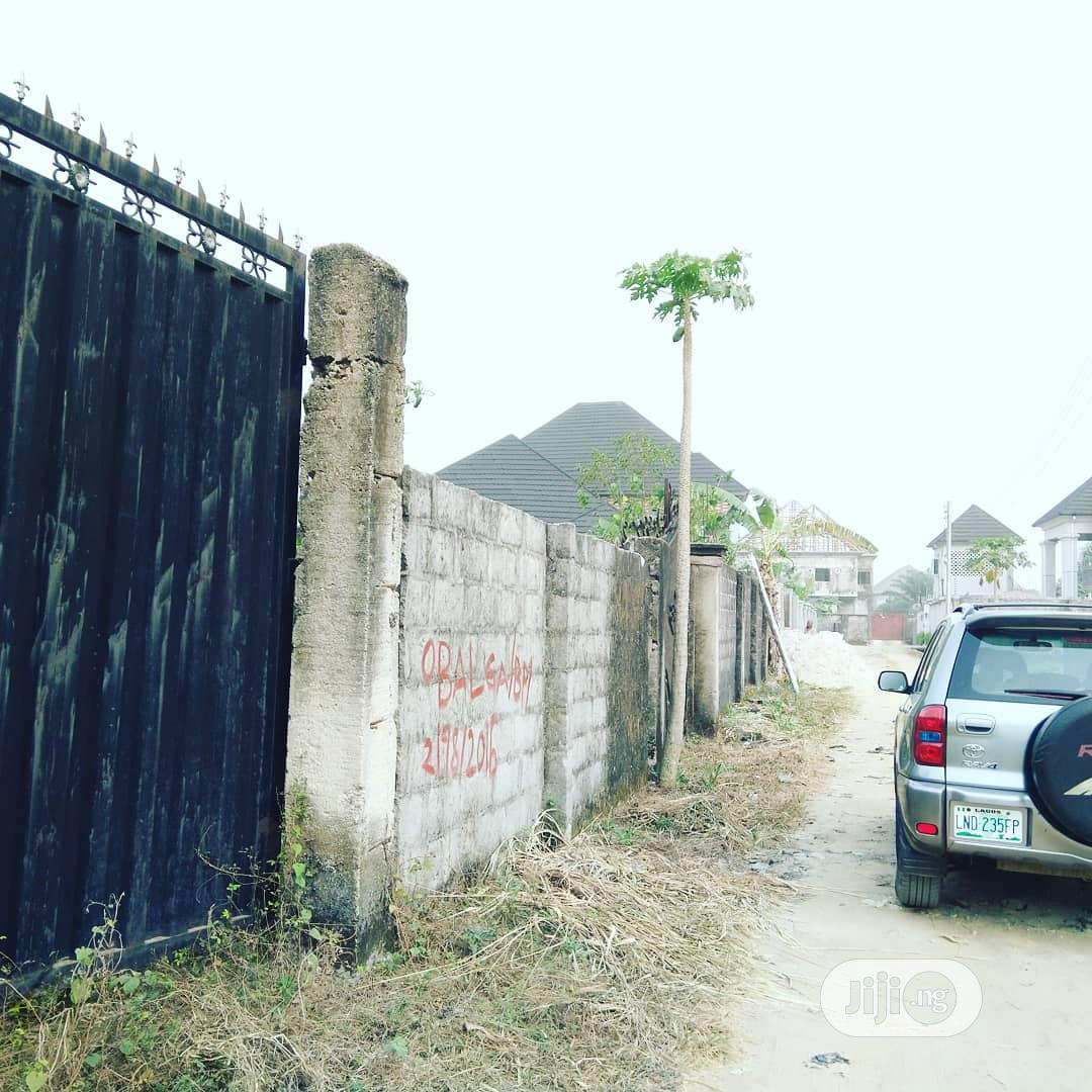 3 Bedroom Uncompleted Duplex Fully Fenced, Gated On Half Plot