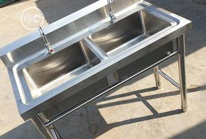 Double Stainless Sink (Quality) | Restaurant & Catering Equipment for sale in Lagos State, Ojo