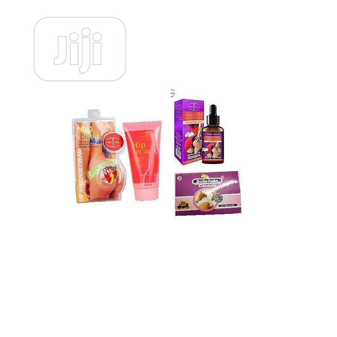 Aichun Beauty Hip Lift Up/Firming Cream+Garlic Hip Oil+Bobaraba Pills