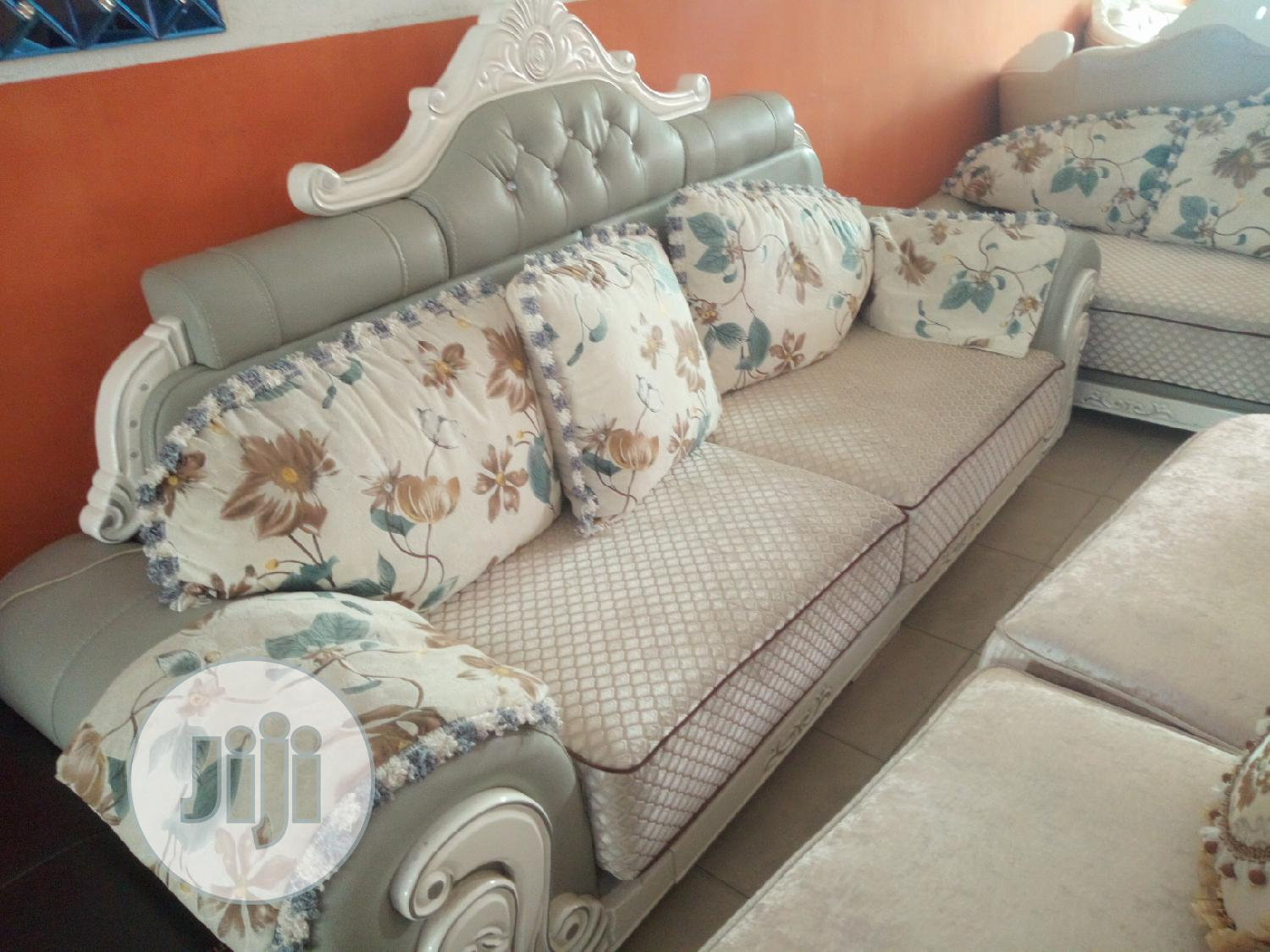 Fabric And Leather Royal Sofa | Furniture for sale in Ikeja, Lagos State, Nigeria