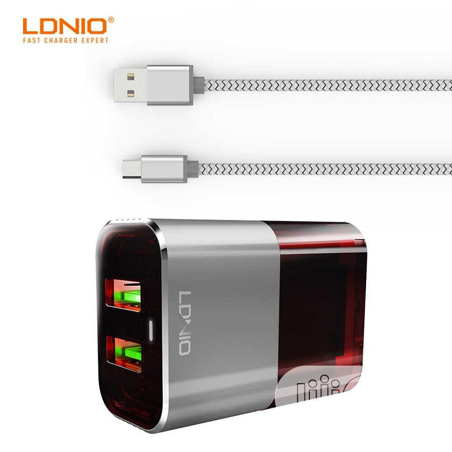 Dual USB Port Adaptive Travel Charger (A2206) | Accessories for Mobile Phones & Tablets for sale in Ikeja, Lagos State, Nigeria