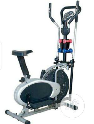 4 Handle Orbitrac Elliptical Bike With Dumbbells   Sports Equipment for sale in Lagos State, Surulere