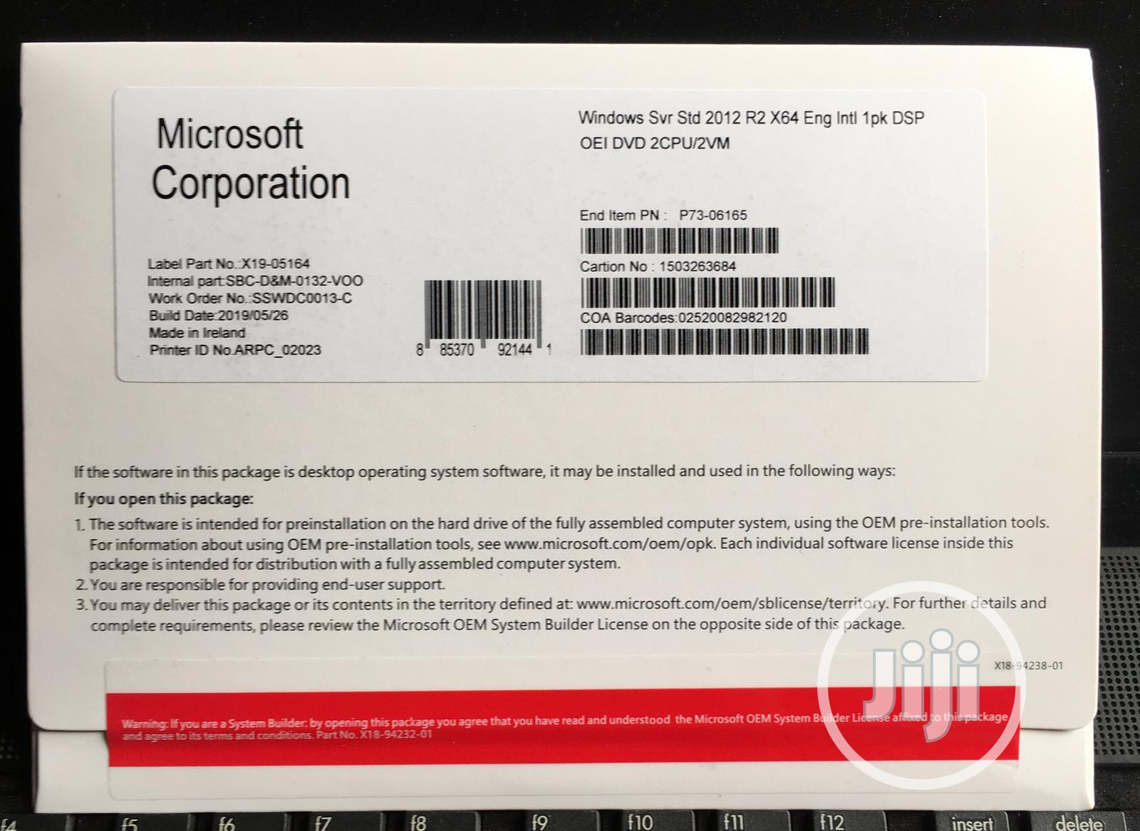 Archive: Server Standard 2012 X64 2cpu Sku P73-06165