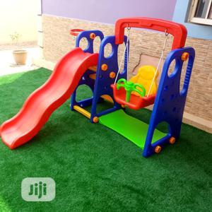 3 In Playground Set-slide, Swing & Basketball Hoop   Toys for sale in Lagos State, Ikeja