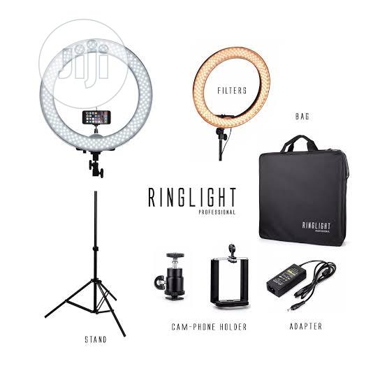 Heavy Duty Ringlight 48cm With Battery Space Light Stand | Accessories & Supplies for Electronics for sale in Ikeja, Lagos State, Nigeria