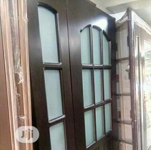 4ft Glass Hard Wooden Door   Doors for sale in Lagos State, Gbagada