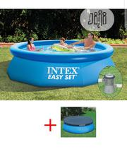 Intex Pool Easy 10ft X 76 Cm SET WITH FILTER PUMP + Cover 28122 | Sports Equipment for sale in Lagos State, Ojo