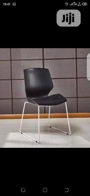Sturdy Black Plastic Training Chairs With Metal Legs | Furniture for sale in Lagos State, Ikeja
