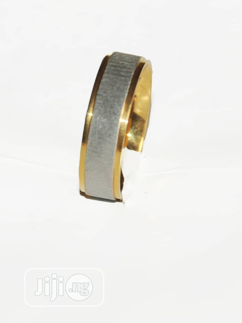 Archive: Beautiful Gold Plated and Silver Titanium Steel Wedding Ring