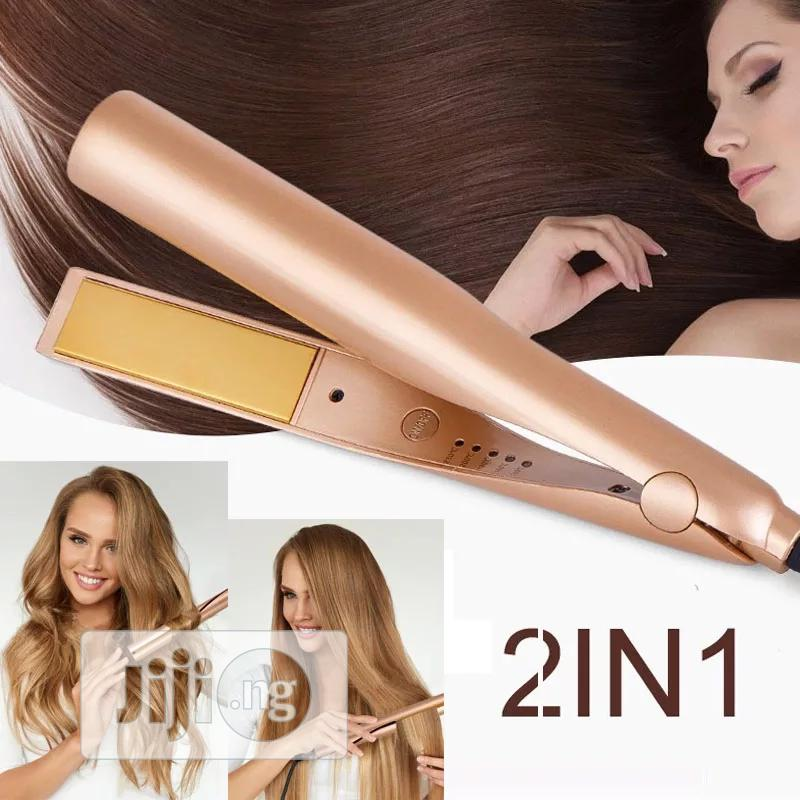 Professional 2 In 1 Twist Hair Curling & Straightening Iron Wet & Dry | Tools & Accessories for sale in Surulere, Lagos State, Nigeria