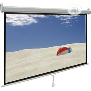 60*60 Automatic Projector Screen With Remote Control. | Accessories & Supplies for Electronics for sale in Lagos State, Ikeja