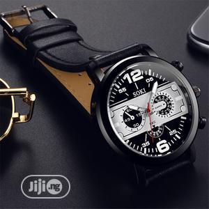 Soki Three Eye Sport Quartz Wristwatch-brown And Black   Watches for sale in Oyo State, Ibadan