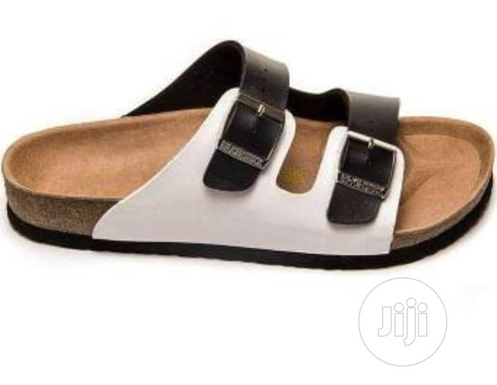 Archive: White and Black Mac Double Buckle Slip on