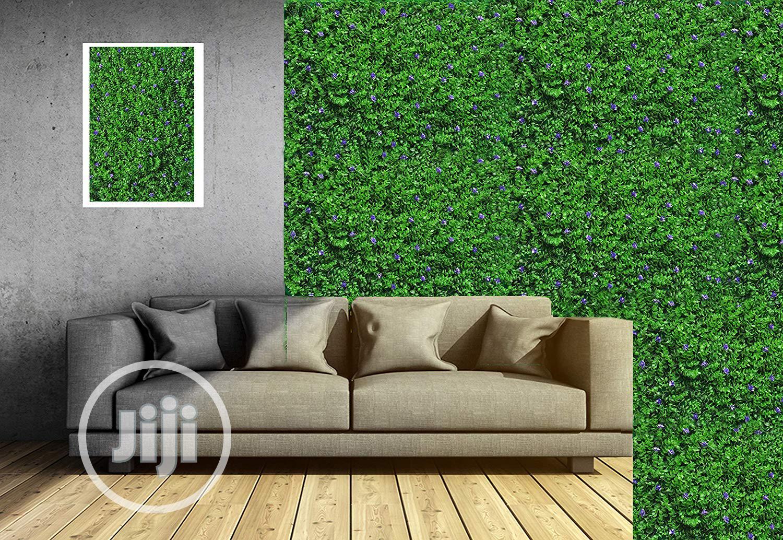 New & Original Artificial Wall Designed Grass Carpet & Plants.