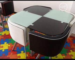 Super Quality And Portable Glass Dinning Table With 4 Chairs   Furniture for sale in Lagos State, Ojo
