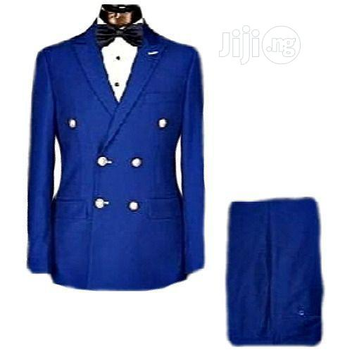 Royal Blue Men's Suit, Double Breasted