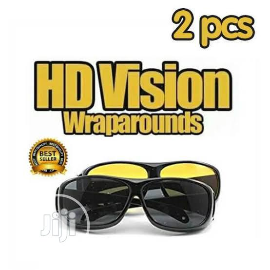 HD Night Vision Wrap Around Glasses Night Vision Driving Glasses | Clothing Accessories for sale in Ikeja, Lagos State, Nigeria