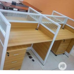 Glass Partition Office Workstation Table   Furniture for sale in Lagos State, Oshodi