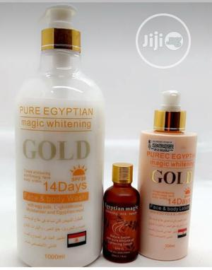 Pure Egyptian Magic Whitening Set, Shower Gel, Oil, Lotion | Bath & Body for sale in Lagos State, Amuwo-Odofin