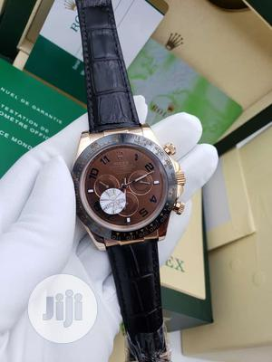 Rolex Oyster Perpetual (Daytona) Chronograph Rose Gold Leather Watch   Watches for sale in Lagos State, Lagos Island (Eko)