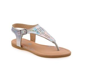 Perforated T-Strap Sandal - Silver | Children's Shoes for sale in Lagos State, Surulere