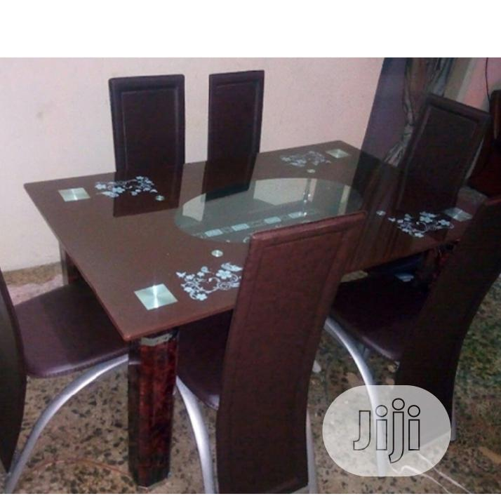 Classic Glass Top Dining Table