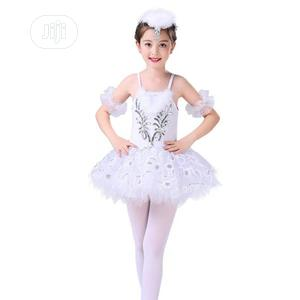 Fitted Ballet Dancing Dress White And Silver   Children's Clothing for sale in Lagos State, Ojota