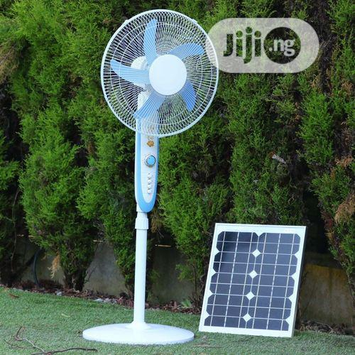 Rechargeable Solar Fan With USB Moblie Charging Spot