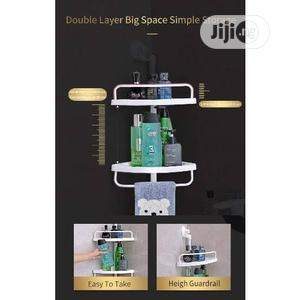 Two Layer Room Suction Corner Shelf | Home Accessories for sale in Lagos State, Ifako-Ijaiye