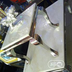 Silver Base Marble Center Table   Furniture for sale in Lagos State, Oshodi