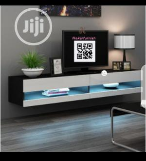 Hanging. Wall TV Stand With LED Lights | Furniture for sale in Lagos State, Ajah