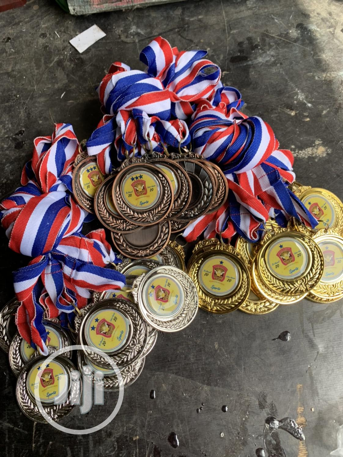 Award Medal Gold,Silver And Bronze