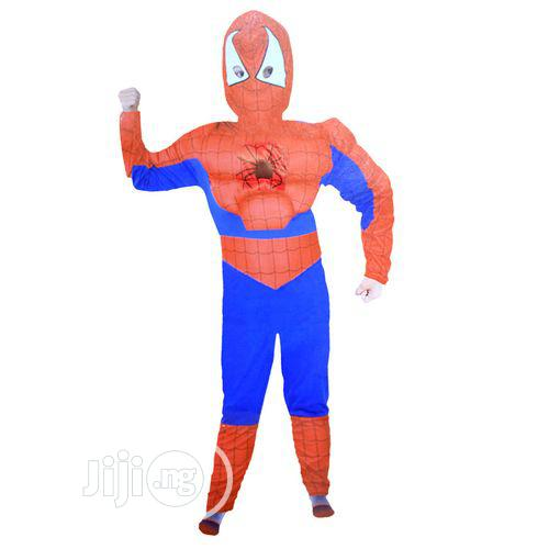 Padded Spider Man Costume-red, Blue And Black