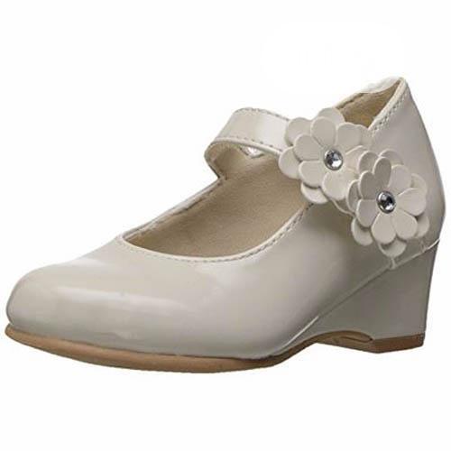 Rachel Toddler Shoes Lil Chantel Wedge, Bone Patent - 8M US /. (
